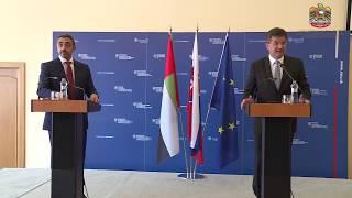 بالفيديو.. عبدالله بن زايد من سلوفاكيا: خياران فقط أمام قطر