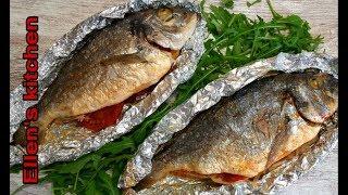 Как готовит Вкусную Рыбу в Фольге в духовке '' Delicious fish in the foil in the oven''