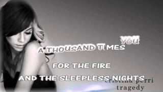 Christina Perri Tragedy lyrics karaoke instrumental