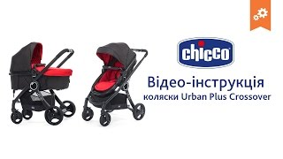 Коляска Chicco Urba Plus Crossover. Інструкція по збірці.