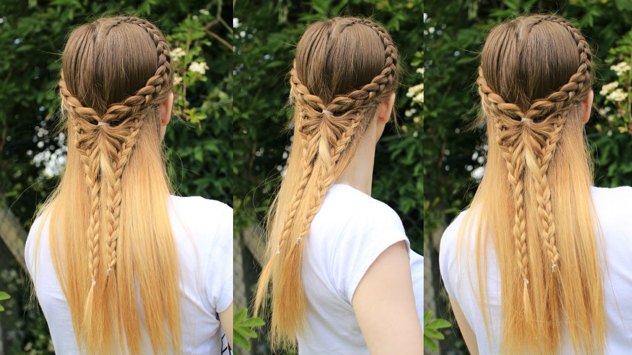 Half Down Butterfly Hairstyle Pinterest Inspired Tutorial - Braid diy pinterest