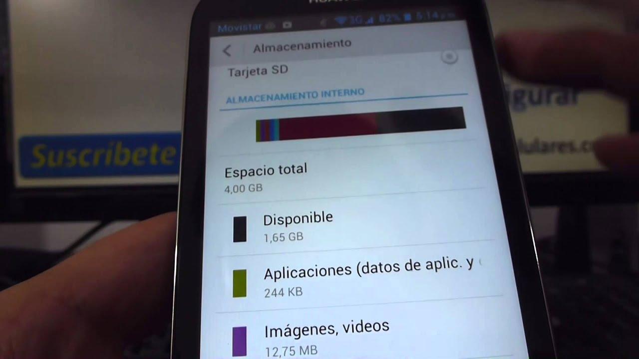 Como ver memoria interna del celular Huawei Ascend G610