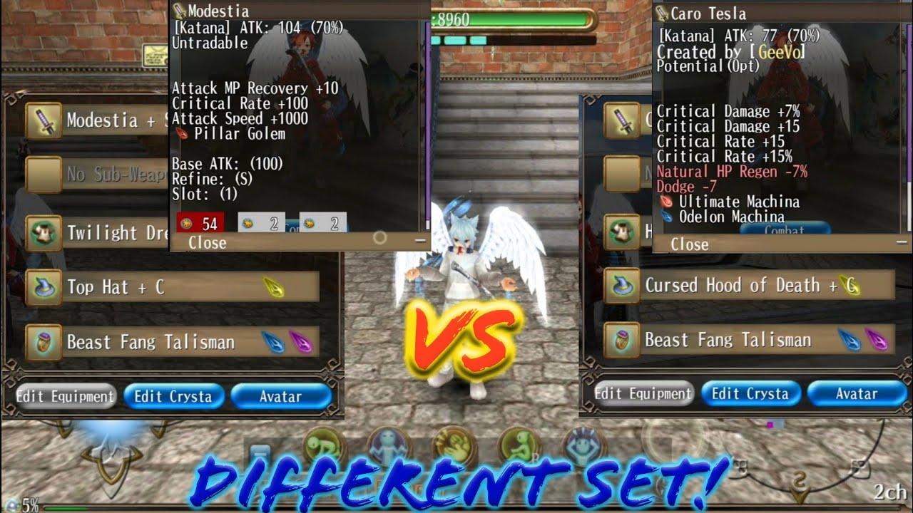 Modestia, is it worth? Which better Modestia +S (125 crit) vs Caro