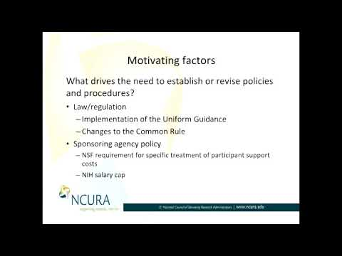 What Drives the Need to Establish or Revise Policies and Procedures? Part I of II
