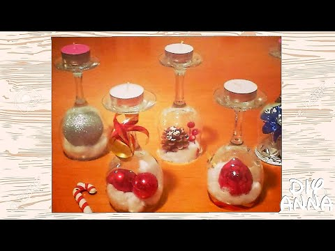 easter and christmas decorations candle holder vine glasses DIY craft ideas tutorial / URADI SAM