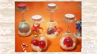 easter and christmas decorations candle holder vine glasses DIY craft ideas tutorial / URADI SAM