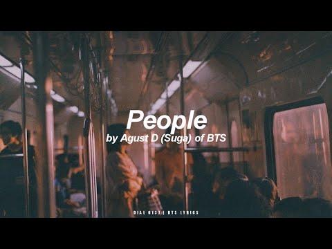 People | Agust D / Suga (BTS - 방탄소년단) English Lyrics