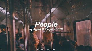 Download lagu People | Agust D / Suga (BTS - 방탄소년단) English Lyrics