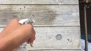 打ち放しコンクリート撥水剤効果 比較