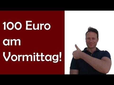 Daytrading: 100 Euro am Freitag Vormittag mit DAX und EURUSD