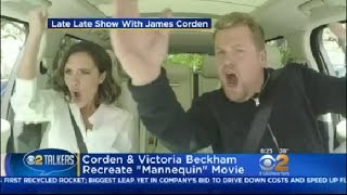 James Corden & Victoria Beckham Recreate 'Mannequin' Movie