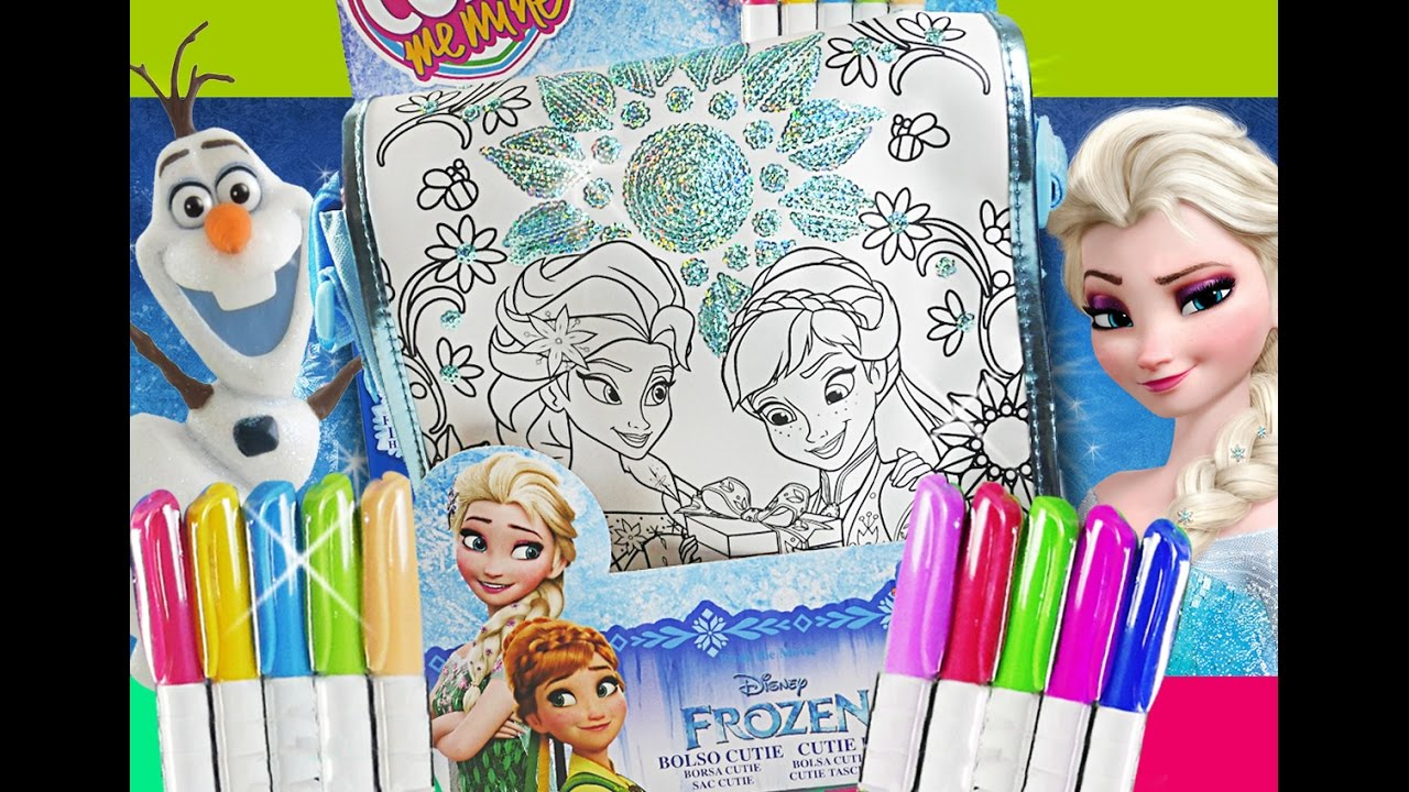ae95febd7bb6d Frozen Fever color your own bag Elsa and Anna fashion purse by RoziBerry