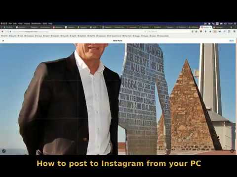 How can i post pictures on instagram from my computer firefox