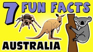 7 FUN FACTS ABOUT AUSTRALIA! FACTS FOR KIDS! Koala Bears! Kangaroos! Spiders! Learning Colors! FUN!