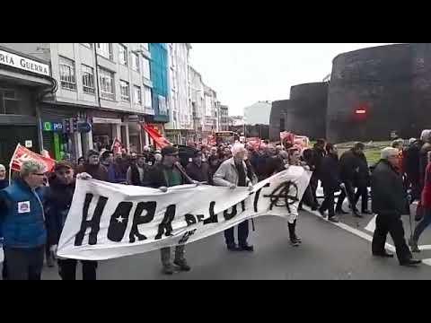 Los jubilados vuelven a las calles de Lugo