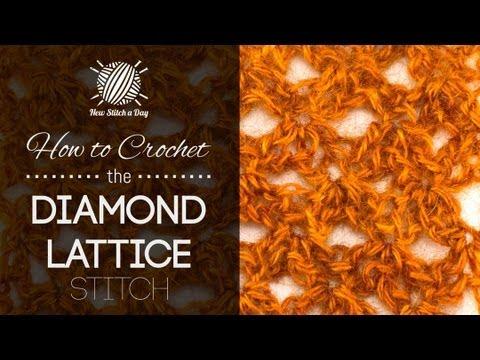 How to Crochet the Diamond Lattice Stitch