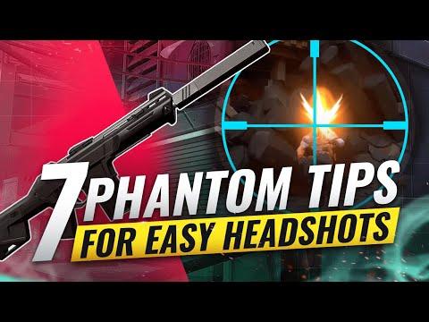 7 PHANTOM Tips For EASY HEADSHOTS - Valorant