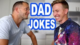 BAD Joke Telling Dad Jokes Edition (you laugh you lose) Davey vs Jase from The Ohana Adventure