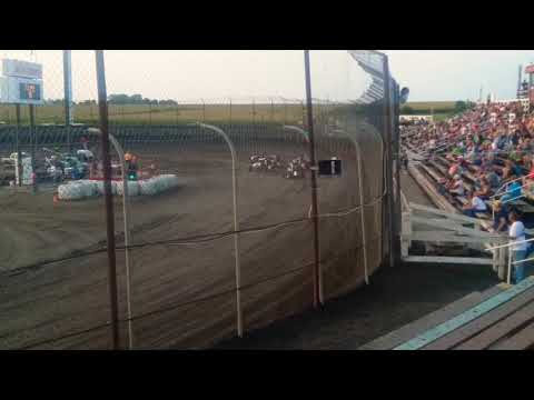 POWRi Midgets Heat 1  Macon Speedway