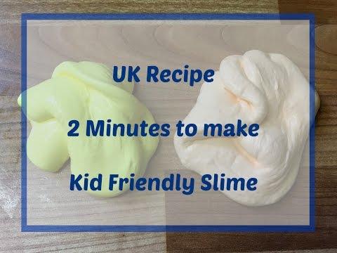 UK Recipe - Kid Friendly Slime (no Borax or Liquid Starch)