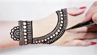 Most Easy Full Back Hand Mehndi Design - Full Hands Mehandi Designs Easy -  Hummairas Mehndi