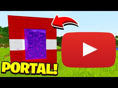 Minecraft : How To Make A Portal To The YouTube Dimension