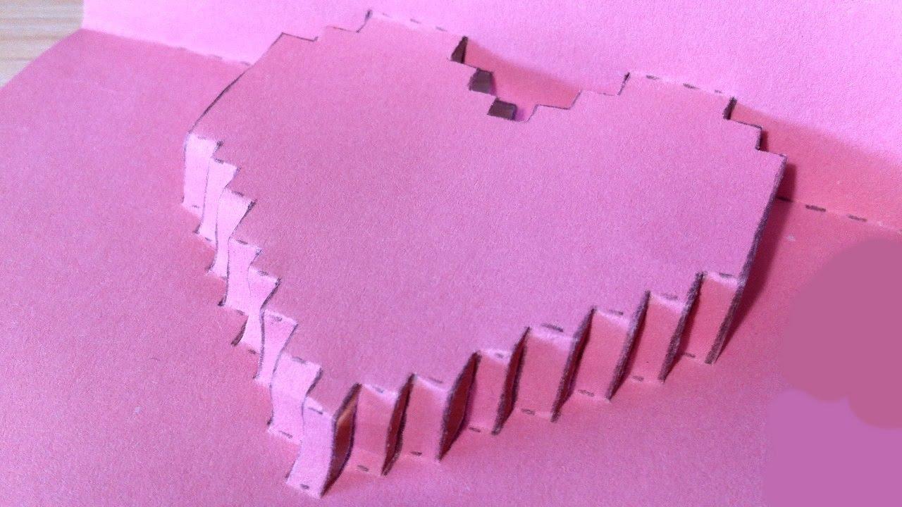 Марта своими, открытка три д сердце из