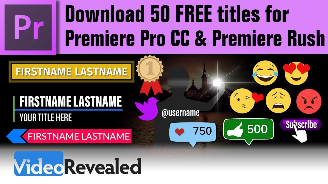 Download 50 FREE Titles for Premiere Pro CC and Premiere Rush