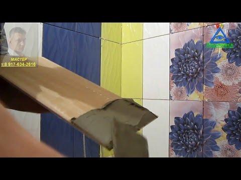 Правильная укладка плитки на стены в ванной комнате