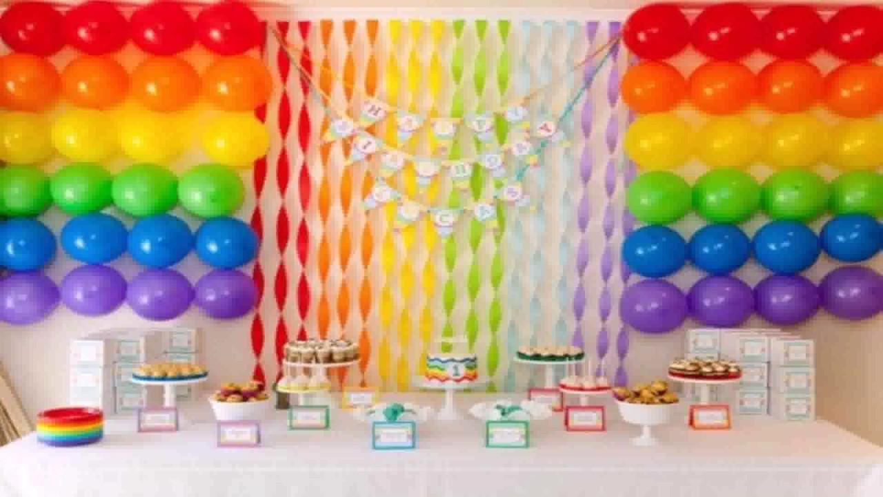 Diy Rainbow Birthday Decor