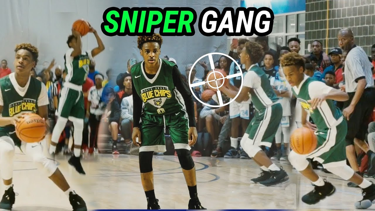 best service 14bbd 27b4b Bronny James, Rodney Gallagher & The North Coast Blue Chips CAN'T MISS!  SNIPER GANG 🔥