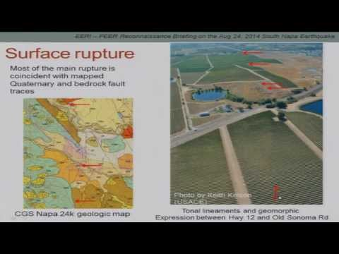 Reconnaissance Briefing on South Napa Earthquake
