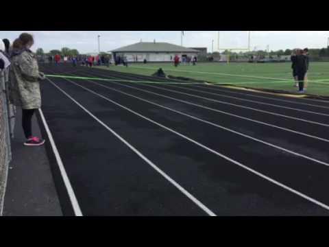 Special olympics 50 yard dash Cameron Scoggins