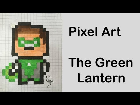 Pixel Art The Green Lantern