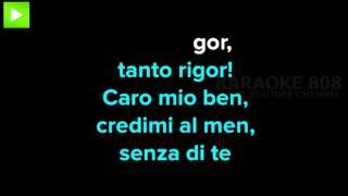 Caro mio ben ~ T Giordani Karaoke Version ~ Karaoke 808