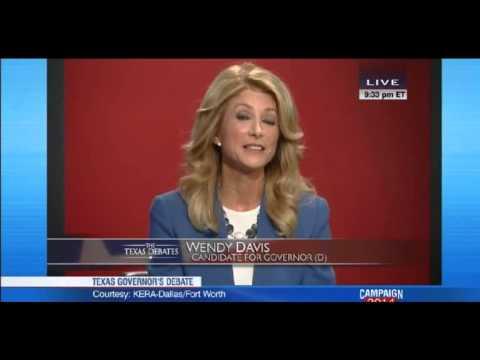 Wendy Davis slams Greg Abbott in Texas Gubernatorial debate