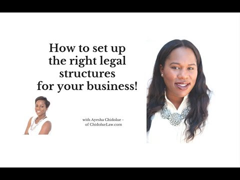 How To Set Up The Right Legal Structures For Your Business!