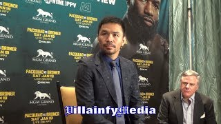 MANNY PACQUIAO ON MAYWEATHER REMATCH; TALKS ADRIEN BRONER CLASH & RECONNECTING WITH FREDDIE ROACH
