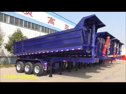 Made light hard wearing steel bulk tipper coal half pipe dump trailer U shape tipping semi trailer
