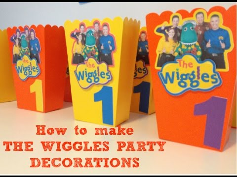 How to make The Wiggles Birthday Party decorations with FREE printables