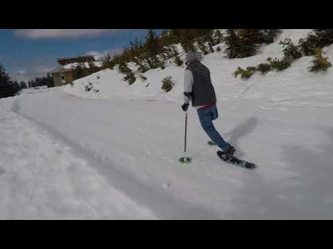 Testing SideStix at Mount Washington's Nordic ski area