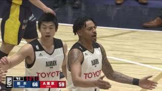 栃木ブレックスvsアルバルク東京|B.LEAGUE第26節GAME2Highlights|04.02.2017 プロバスケ (Bリーグ)