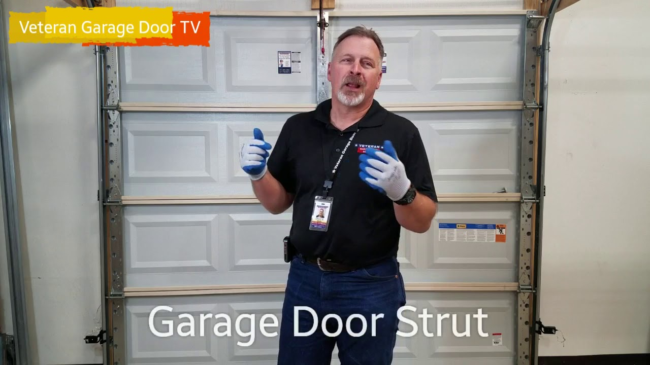 Garage Door Strut Veteran Garage Door Youtube