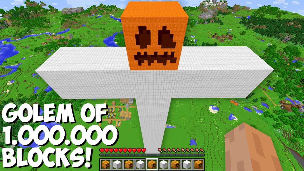 Never SPAWN A GOLEM FROM 1,000,000 BLOCKS in Minecraft ! INCREDIBLY HUGE IRON GOLEM !
