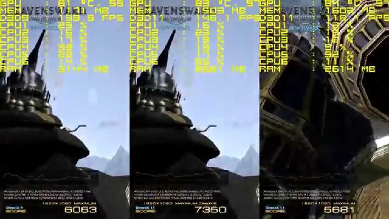 FFXIV Heavensward Benchmark DX9 vs DX11 Performance [60fps]