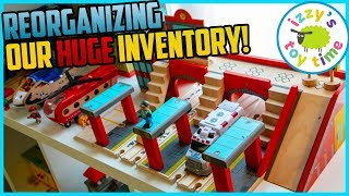 Thomas and Friends! Organizing our MASSIVE INVENTORY of Thomas, BRIO, and More Toy Trains!