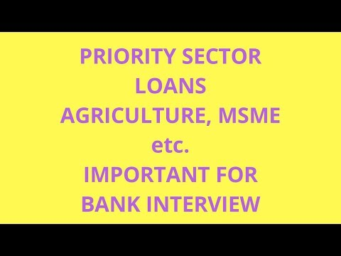 PRIORITY SECTOR LOANS AGRICULTURE, MSME ETC.IMPORTANT FOR BANK INTERVIEW Mp3