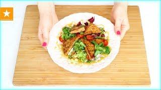 Согревающий салат с жареным сыром и медово-горчичным соусом - рецепт от Мармеладной Лисицы