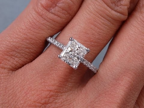 1 42 Ctw Radiant Cut H Si1 Diamond Engagement Ring