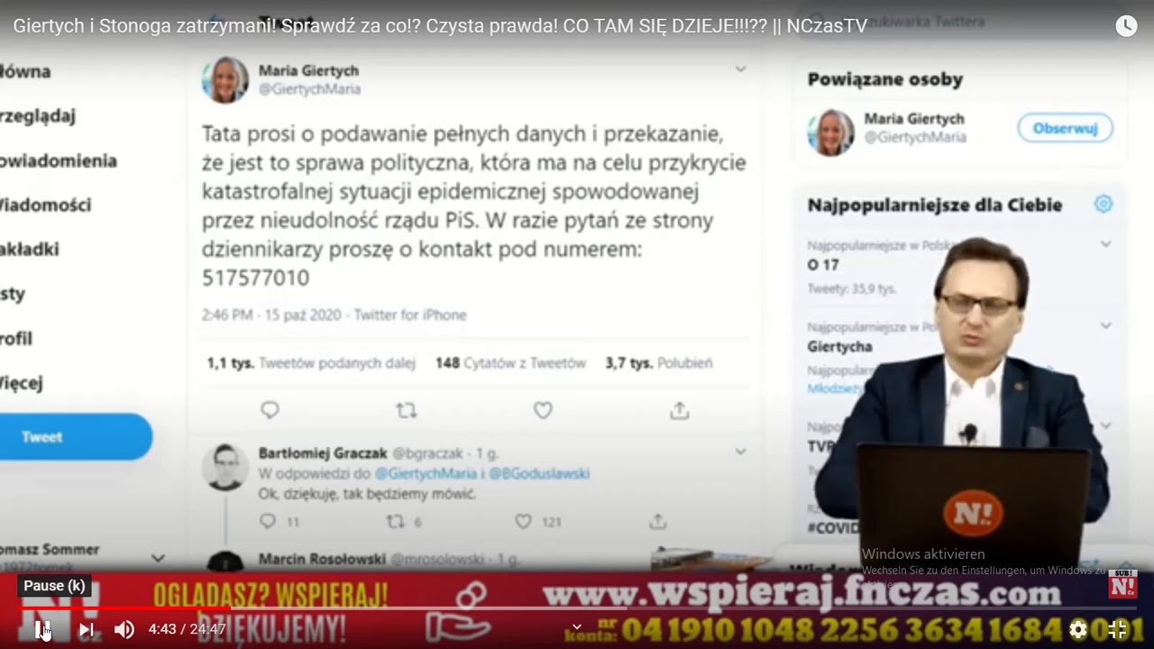 Reset 2024-Roman Giertych Stonoga aresztowani-akcja sznur-USA oczyszsza Polske z niemieckich agentow
